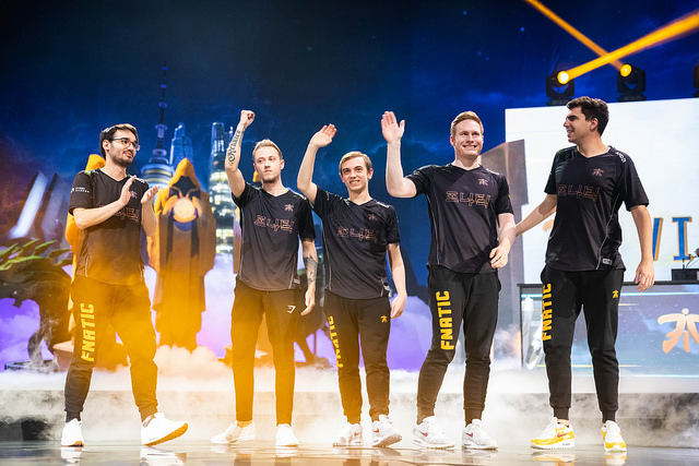 Worlds 2018 Fnatic winning semis
