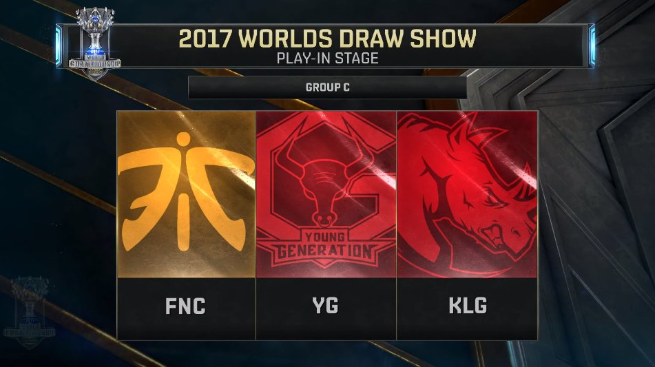 play in worlds 2017 groupe c