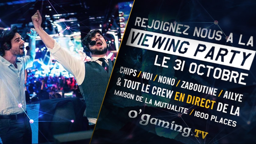 Une viewing party pour la finale des Worlds