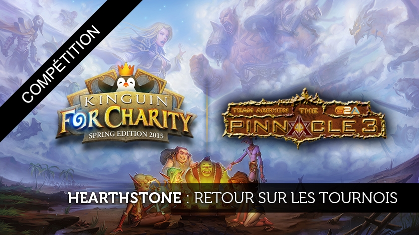 Résultats du Pinnacle 3 et du Kinguin for Charity sur Hearthstone