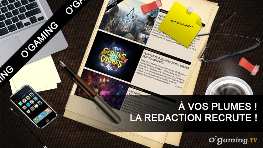 la r u00e9daction o u0026 39 gaming recrute