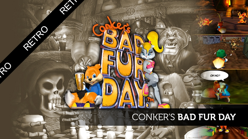 Tu peux plus test : Conker's Bad Fur Day (suck my squirrel!)