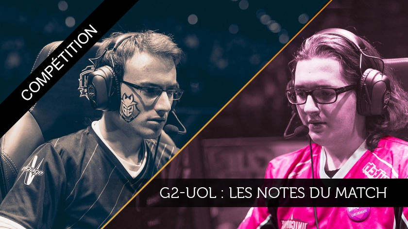 G2-UOL : les notes du match