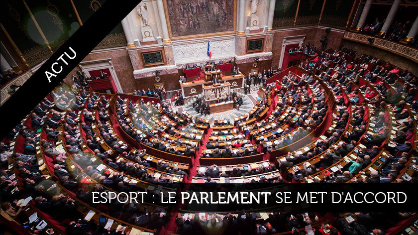 Le Parlement se met d'accord sur l'eSport