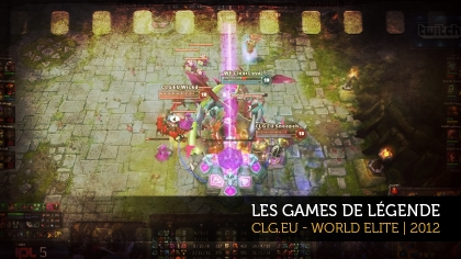 Les games de légende : CLG.eu - World Elite, 2012